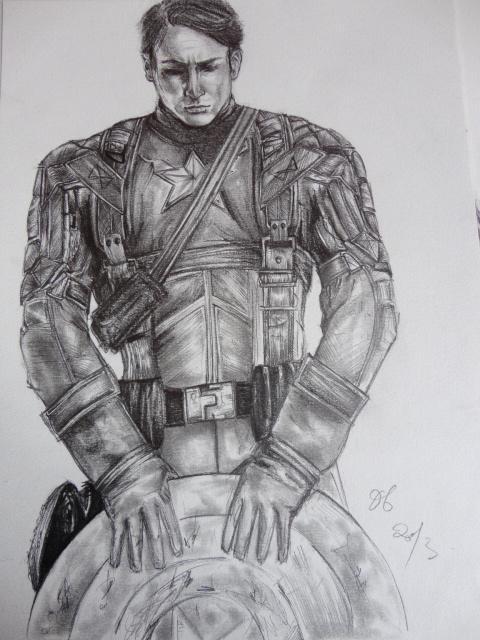 Captain America by ElenaBlackbird